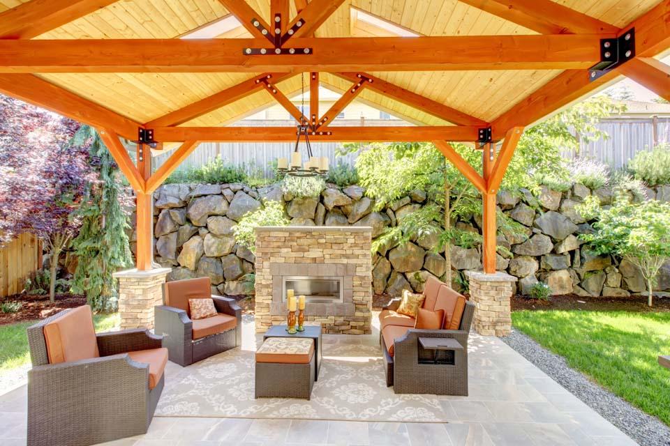 Refinishing a fireplace surround